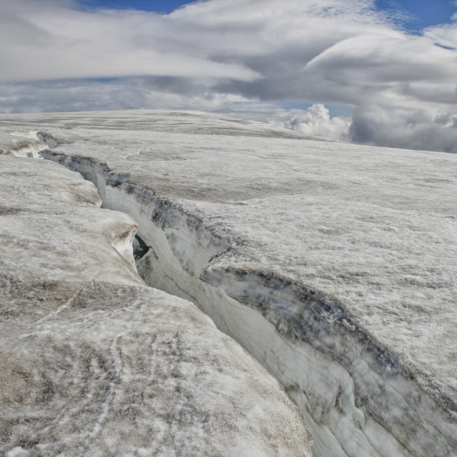 """Glacier crack"" stock image"