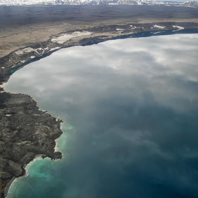 """Crater lake Iceland"" stock image"