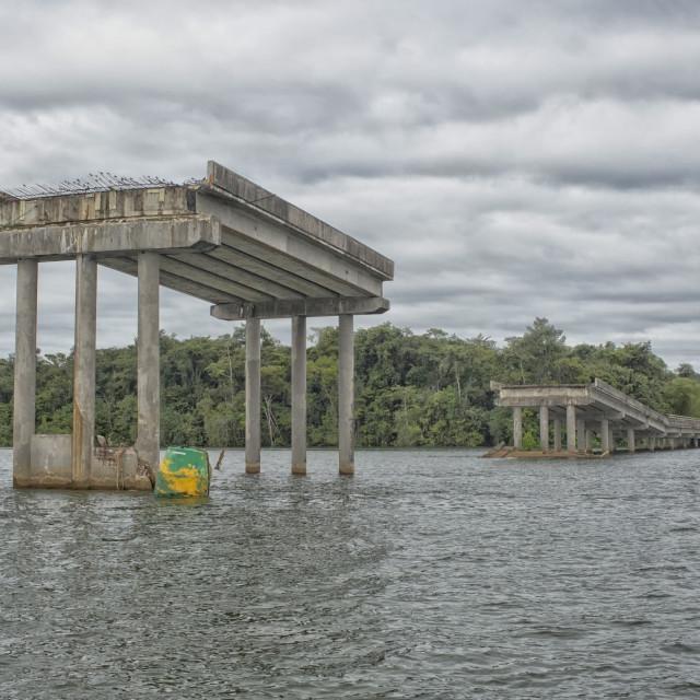 """""""Broken bridge"""" stock image"""