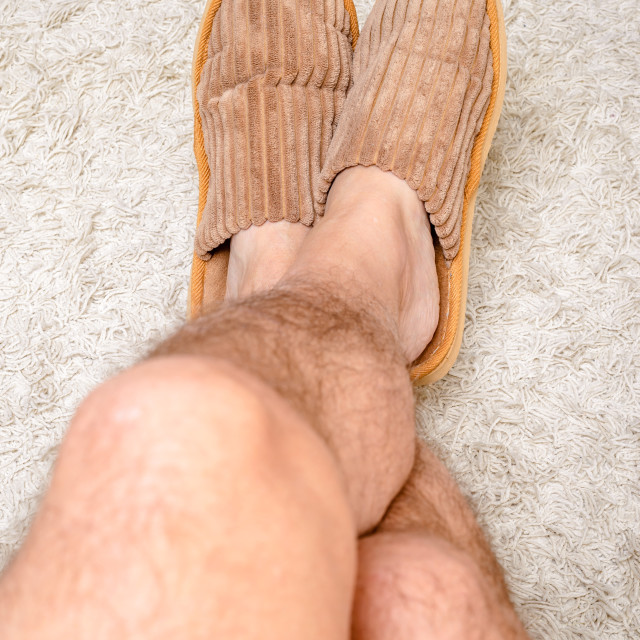 """""""Relax with Slippers"""" stock image"""