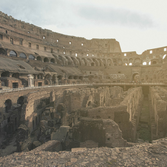 """""""Sun-drenched Colosseum"""" stock image"""