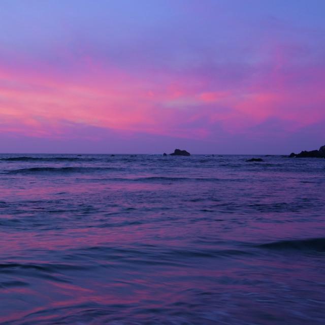 """""""Nayarit Sunset"""" stock image"""