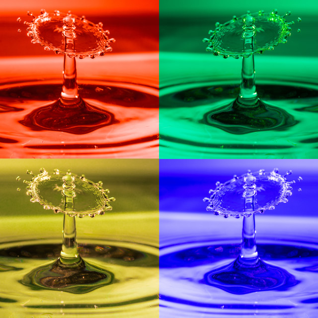 """Pop Art Water Drops 1"" stock image"