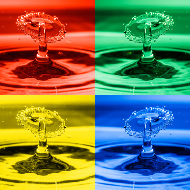 """Pop Art Water Drops 2"" stock image"