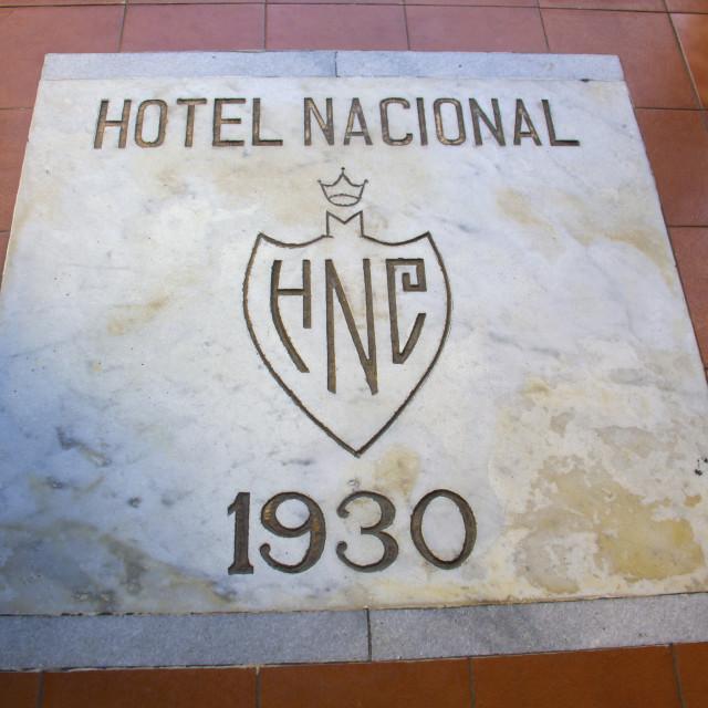 """Hotel Nacional - Havana City - Cuba"" stock image"