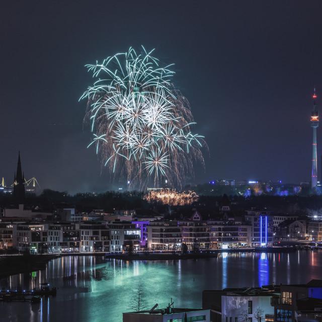 """Firework in Dortmund"" stock image"