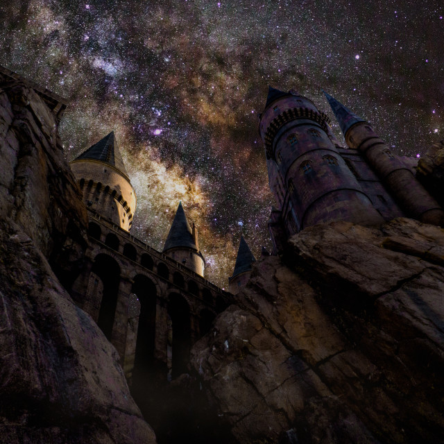 """""""Welcome To Hogwarts"""" stock image"""