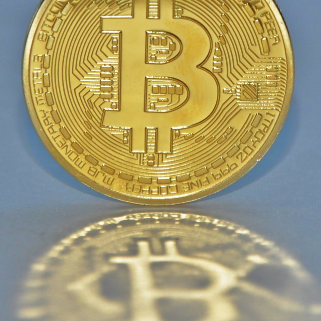 """Bitcoin Crypto Currency"" stock image"
