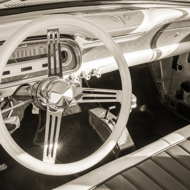 """vintage auto interior"" stock image"