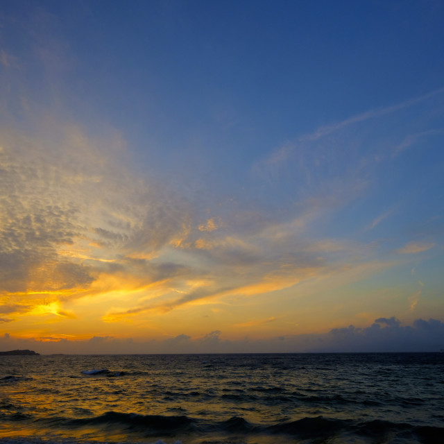 """Mykonos sunset"" stock image"