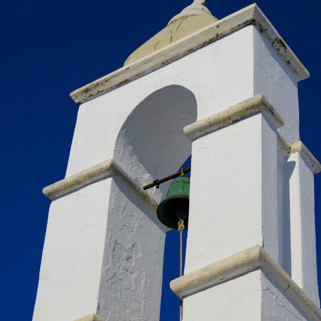 """Mykonos Church Tower"" stock image"