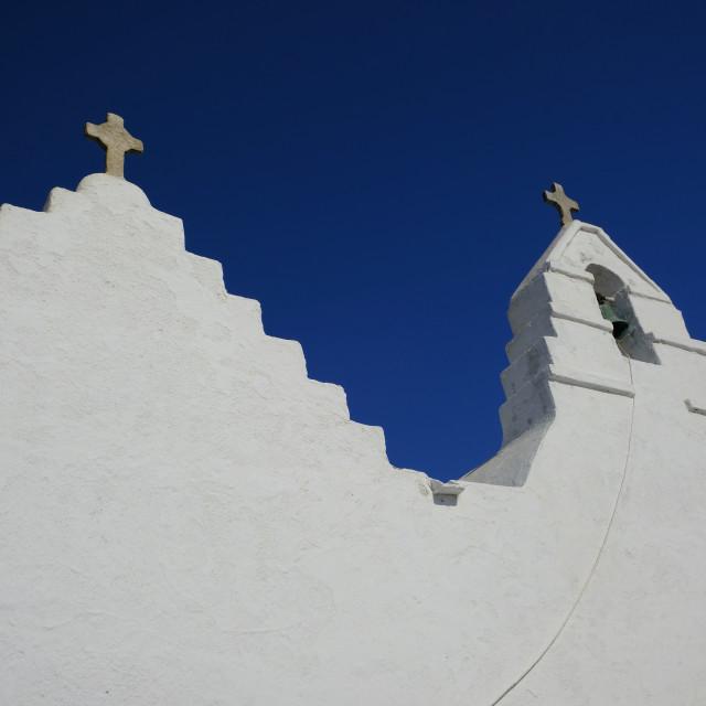 """Mykonos Churches"" stock image"