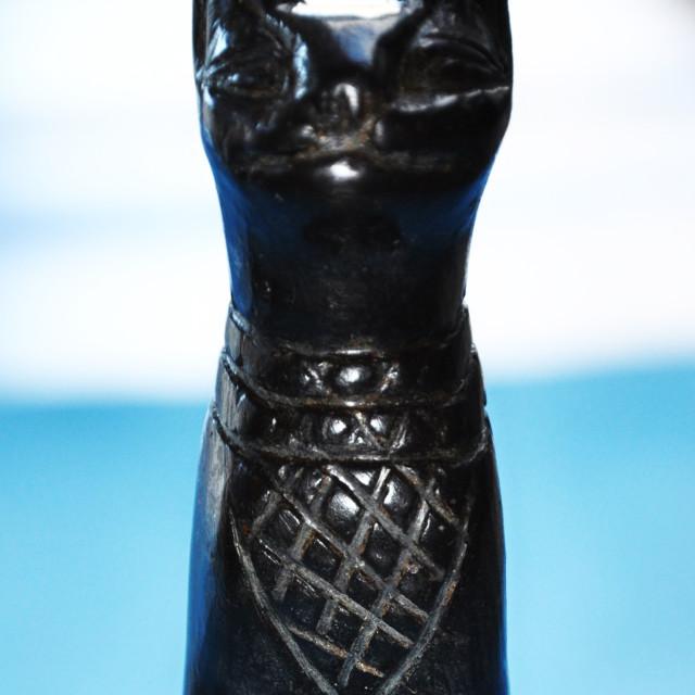 """""""Egyptian Stone Bastet Cat Goddess"""" stock image"""