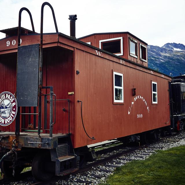 """Caboose, Skagway, Alaska"" stock image"