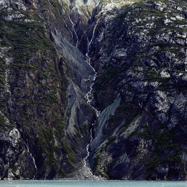 """Waterfall, Glacier Bay"" stock image"