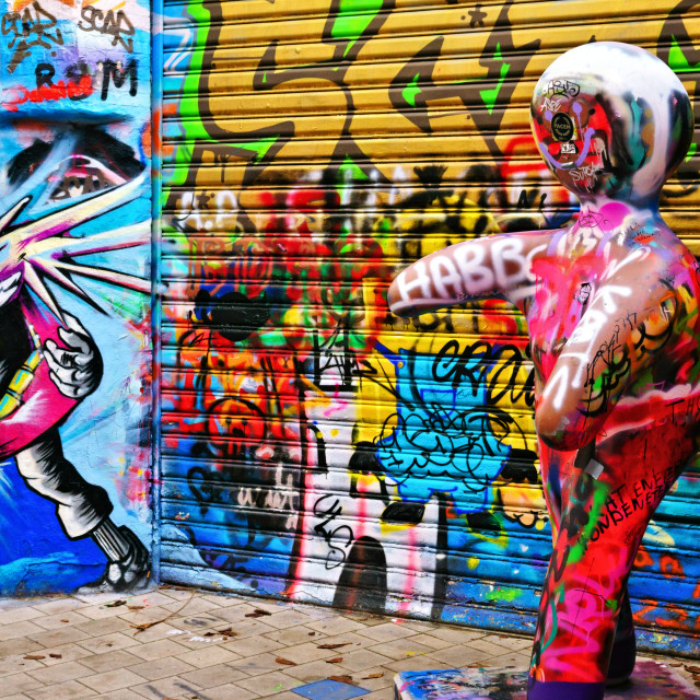 """Graffiti Street, Ghent"" stock image"