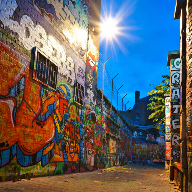 """Graffiti Street Ghent"" stock image"