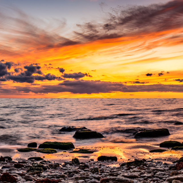 """Norfolk Beach Sunset"" stock image"