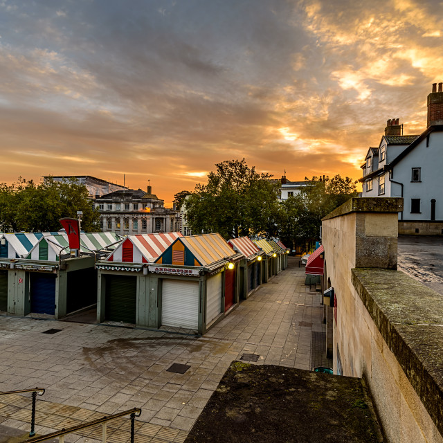"""Norwich Market Sunrise"" stock image"