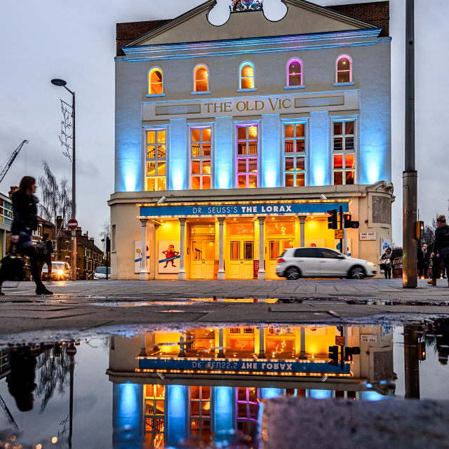 """""""London the Old Vic"""" stock image"""