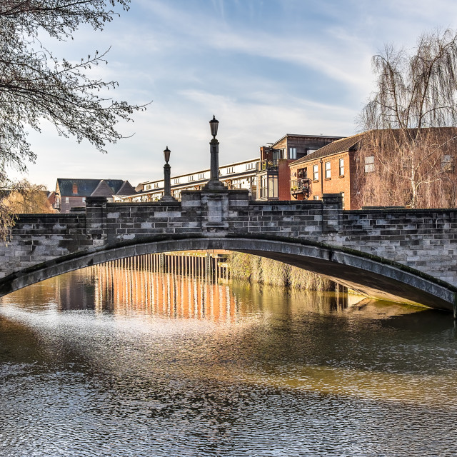 """White Friars Bridge"" stock image"