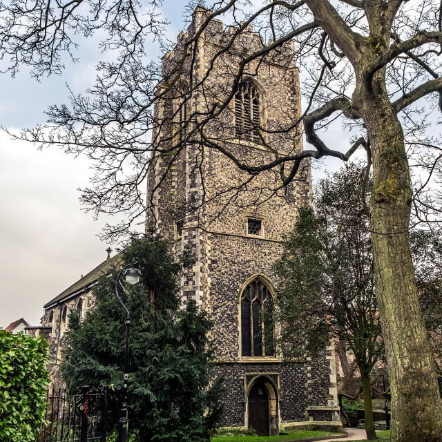 """St Johns Norwich"" stock image"