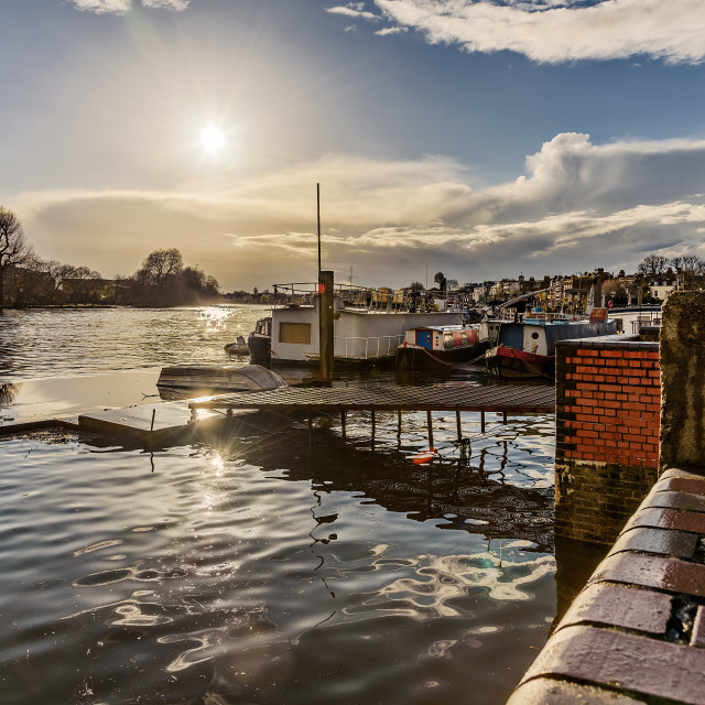 """""""The Thames Hammersmith"""" stock image"""