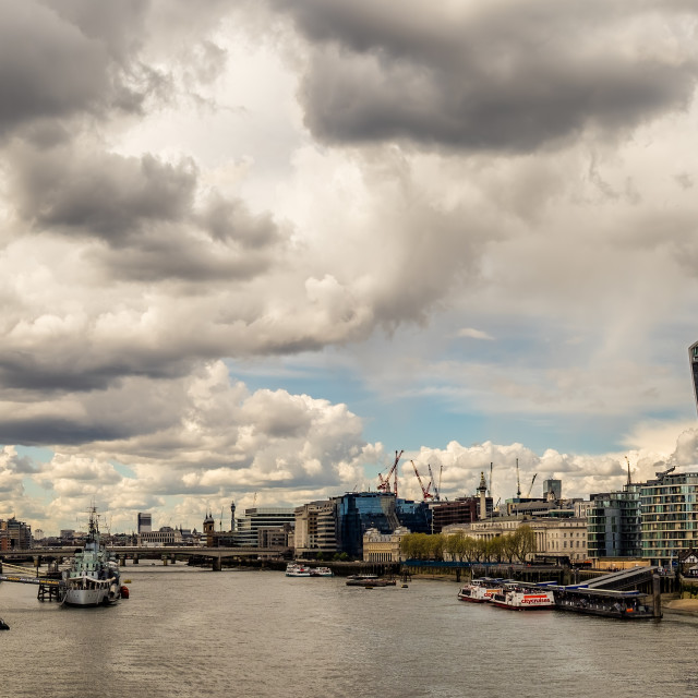 """""""View from Tower Bridge"""" stock image"""