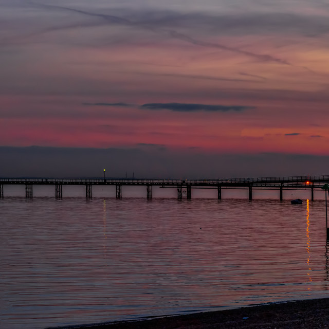 """South-end Pier at Sunset"" stock image"