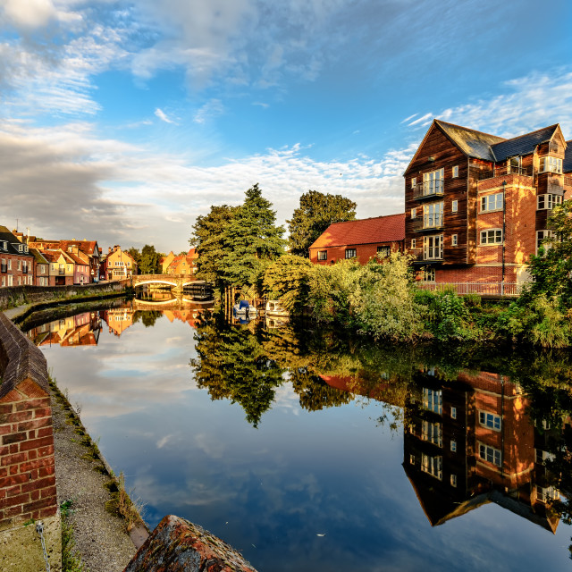 """Norwich Quay"" stock image"
