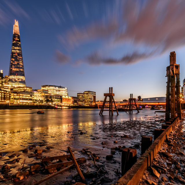 """""""The Shard at Low Tide"""" stock image"""