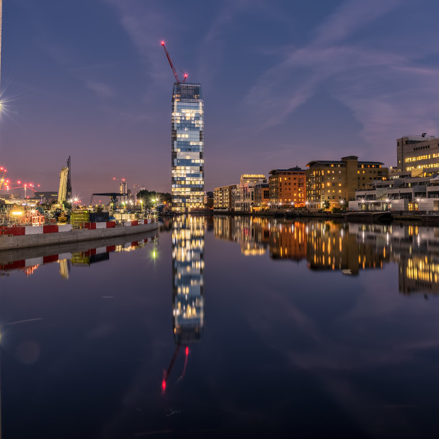 """""""Londons Docklands"""" stock image"""