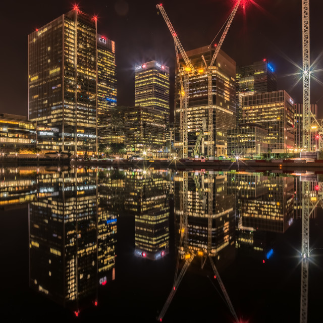 """Canary Warf London"" stock image"
