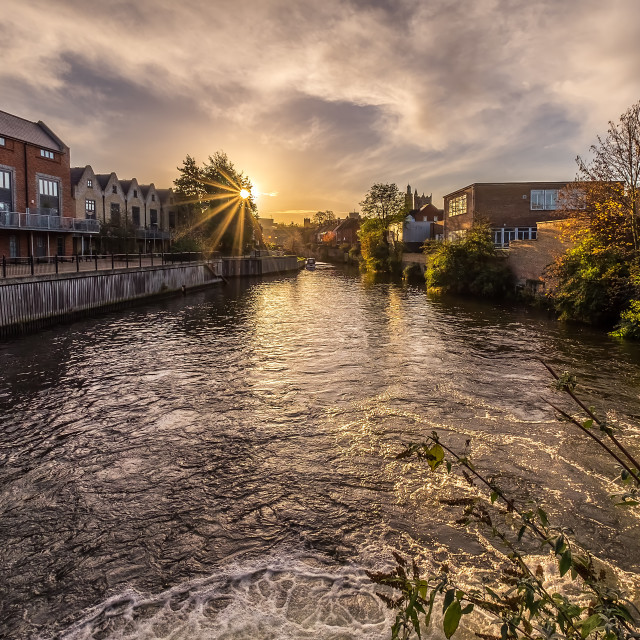 """Sunrise in Norwich"" stock image"