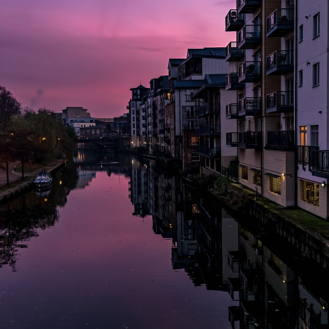 """""""Sunset in Norwich"""" stock image"""