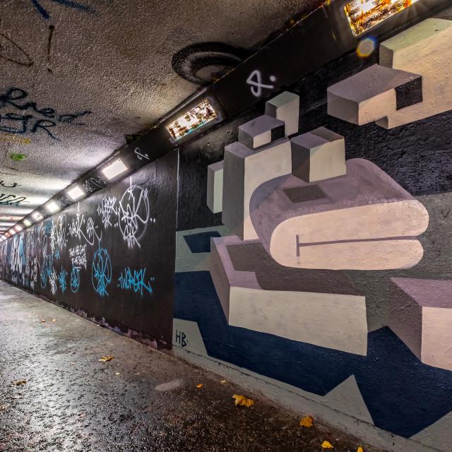 """Tunnel Graffiti"" stock image"