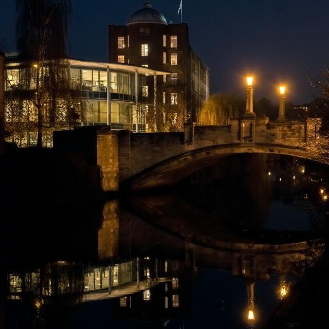 """Norwich NightReflections"" stock image"