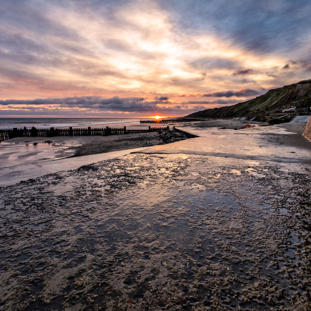 """Mundsley Beach"" stock image"