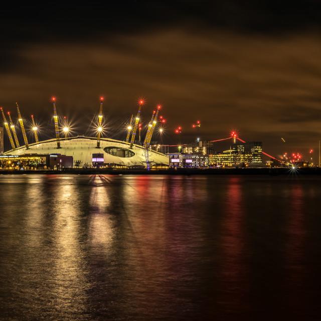 """Londons O2 Panoramic"" stock image"