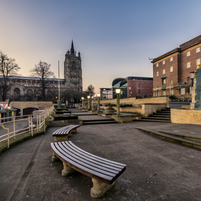 """Norwich Winters Morning"" stock image"