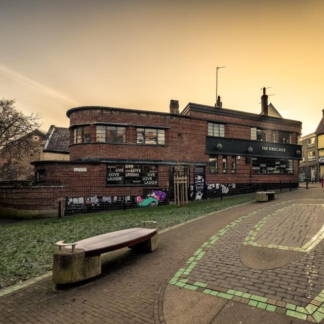 """""""Birdcadge Norwich"""" stock image"""