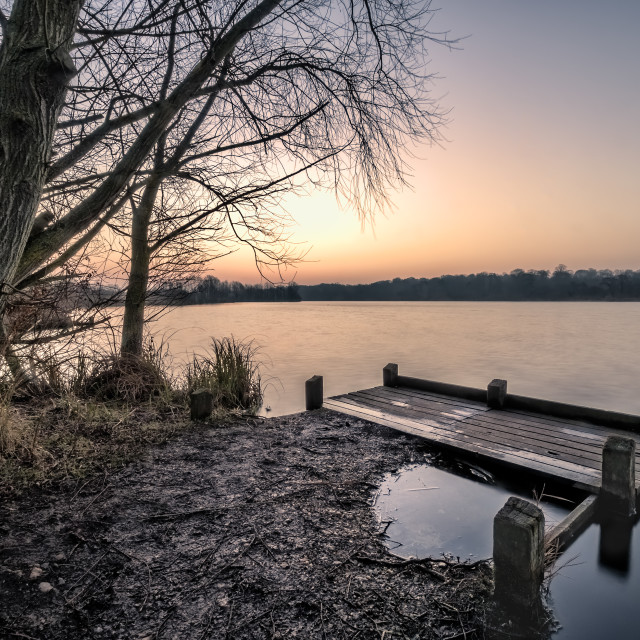 """Early at Whitlingham"" stock image"