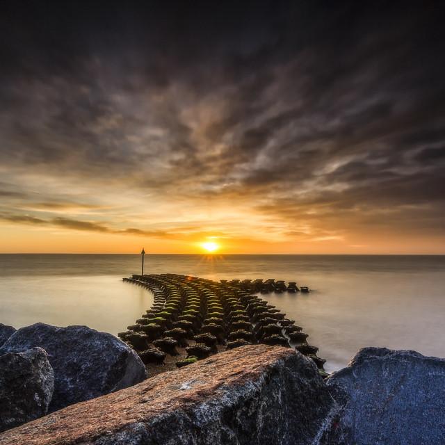 """""""Felixstowe sunrise"""" stock image"""