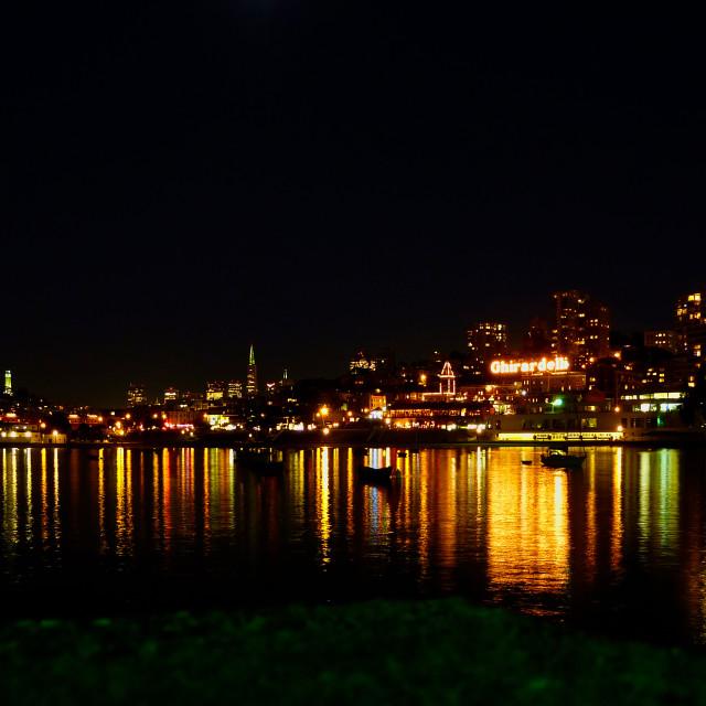 """""""San Francisco at Night"""" stock image"""