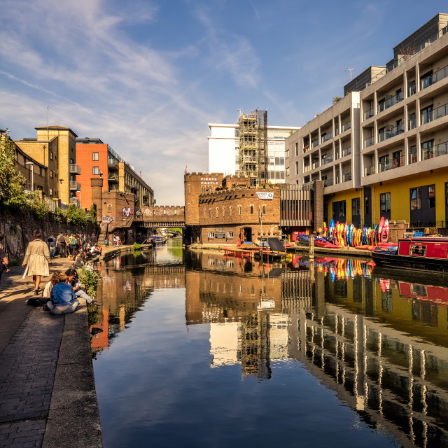 """Camden Canal"" stock image"