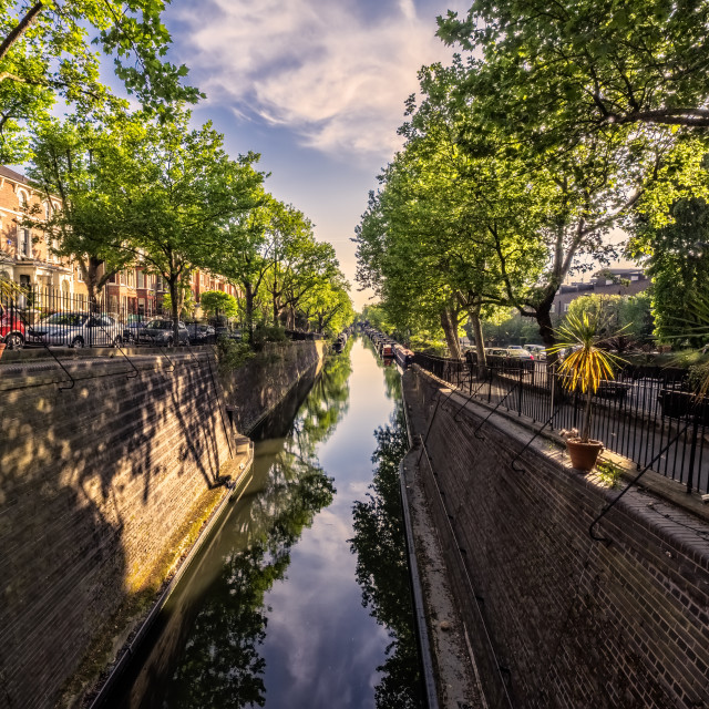 """""""Regents Canal View"""" stock image"""