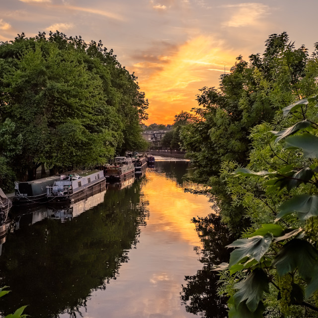 """""""Canal Sunset"""" stock image"""
