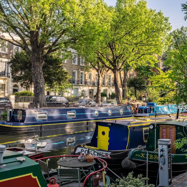 """Maida Vale Boats"" stock image"