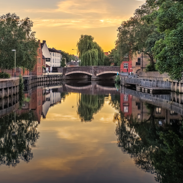 """Wensum Sunrise"" stock image"