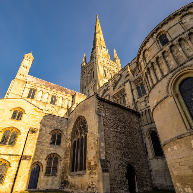 """Norwich Cathedral"" stock image"